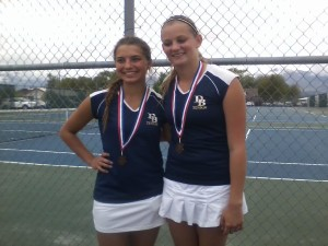 Taryn Judge & Holly Hansen took 3rd place and will go on to State.